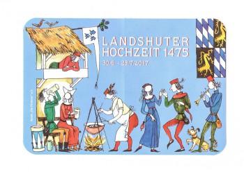"""Aufkleber Motiv """"Landshuter Hochzeit"""""""