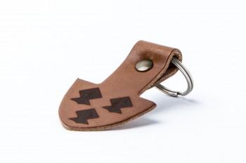 Schlüsselanhänger Leder Motiv Drei Helme