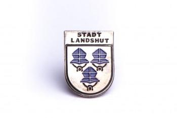 "Pin Motiv ""Wappen Drei Helme"" -blau/silber-"