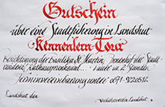 Gutscheine für Ihren Besuch in Landshut