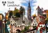 """Aufkleber Motiv """"Stadt Landshut"""" Collage"""